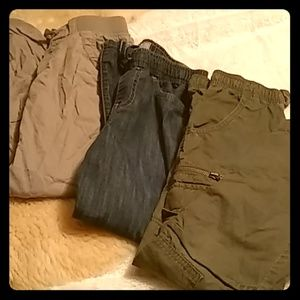 *Lot of 3 Boys Size 7 Pants Crazy 8 H&M Old Navy